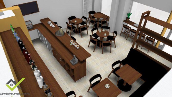 Uptown-Café-Eckenansicht